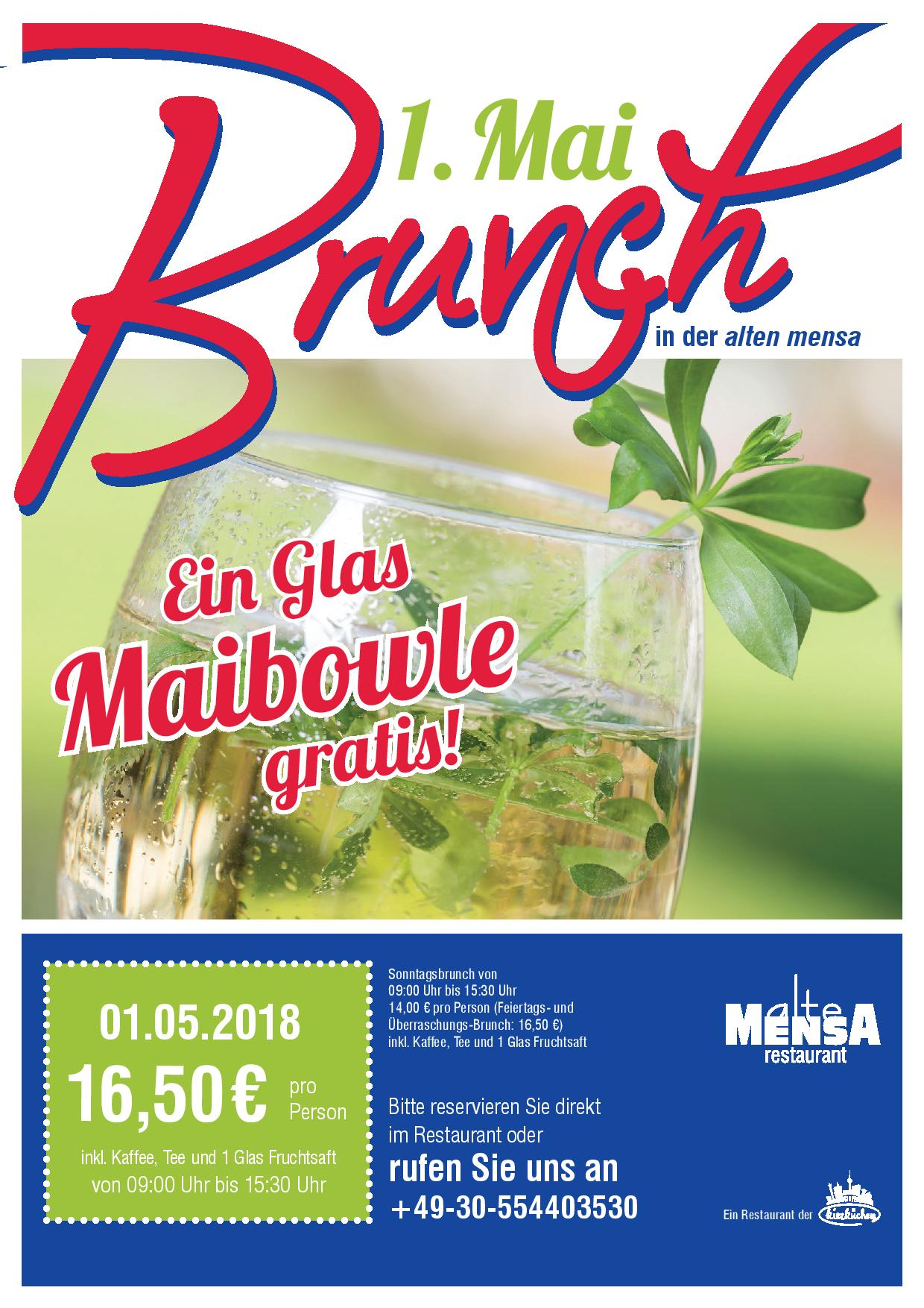 1. Mai Brunch - alte mensa